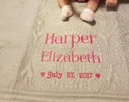 Custom baby quilt   Etsy & Personalized Baby Quilt Monogram Quilt Embroidered Baby Quilt Custom Baby  Quilt Baby Boy Baby Girl Newborn Adamdwight.com