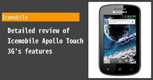Icemobile Apollo Touch 3G - Features ...