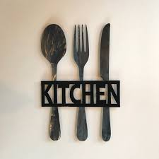 large fork wall superb fork and spoon wall art