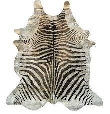 devore metallic zebra brown on beige with gold cowhide zebra print cowhide rug