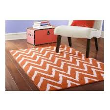 details about modern area rug carpet chevron zig zag living room floor 3 9 x5 6 orange white