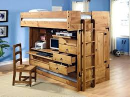bunk bed with desk and drawers loft trundle brown wooden beds desks underneath also built in bunk bed with desk