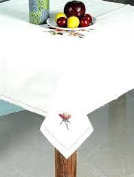 off white tablecloth cotton table cloth with cross stitch fl design x round 120 cl laurel leaf lattice cotton blend tablecloth