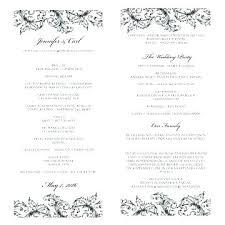 Sample Wedding Program Wording Ceremony Itinerary Template
