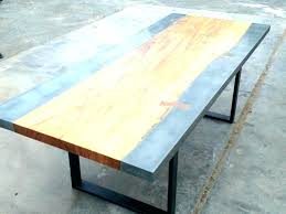 cement table top polished concrete restoration hardware coffee creative round mold