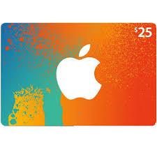 apple itunes gift card 25 0