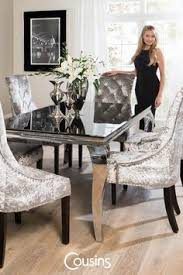 fresh velvet chairs dining room in gorgeous table and crushed other