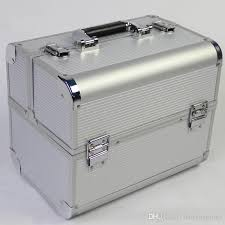 portable aluminum frame cosmetic case woman professional cosmetology manicure toolbox travel jewelry box suitcase bag luggage storage bags uk 2019 from