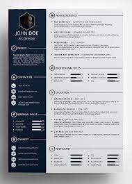 Amazing Resume Templates Free Creative Resume Template In Psd Format