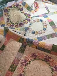 Portable Quilt Display Stand The Making of the Pansy Doily Quilt Rhonda Dort 50