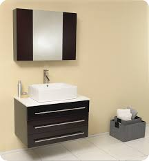 fresca modello 32 espresso modern bathroom vanity with top faucet and linen side cabinet option