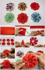 How To Make A Flower Out Of Paper Step By Step Diy Paper Flower Step By Step Making Tutorials K4 Craft