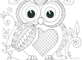 Free Printable Cute Owl Coloring Pages Mandala Cartoon Page C For