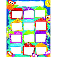 Class House Chart Year Round Houses Owl Stars Birthday Charts Owl Class