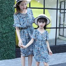 <b>mother daughter dresses</b> matching <b>clothes</b> 2019 new summer ...