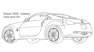 sport cars drawings.  Drawings Autocad Drawing Nissan 350Z Sport Car Coupe Automobile  Sideway 2 In  Vehicles Cars Inside Sport Drawings F