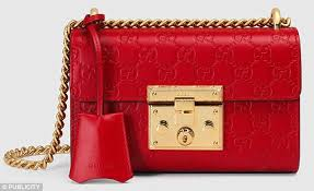 gucci red bag. liz says: so the m\u0026s bag is polyester and made in china, while gucci red