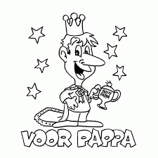 Kleurplaat Papa