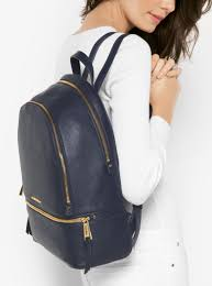 womens backpacks michael michael kors rhea large leather backpack admiral don terrario