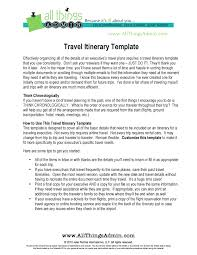 what is a travel itinerary template itinerary template examples templates assistant