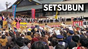 Japanese Setsubun Setsubun 2018 The Biggest Bean Throwing Day Festival In Osaka