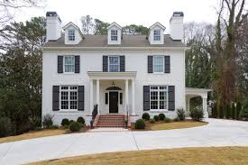 R This Brick Of This Classic House Was Painted In Benjamin Moore White Dove  Photo Credit Burke Coffey Architecture Design Inc