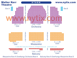Springsteen On Broadway Seating Chart Organized Walter Kerr Theatre Seating Springsteen On