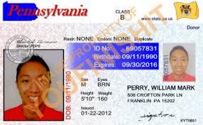 Card Pennsylvania Pennsylvania Od Id Card Id