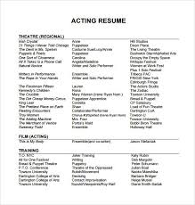 Theatre Resume Awesome Acting Resume Template Elegant Musical Theatre Resume Best Sample