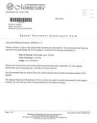 Kevin 55404 Unemployment Appeal Letter