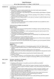 manufacturing resume sample lead manufacturing resume samples velvet jobs