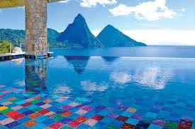 infinity pools. Jade Mountain Infinity Pools