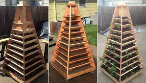vertical pyramid garden planter diy 08