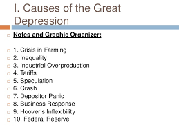 great depression ib review effect on arts movies literature 3 i causes of the great depression
