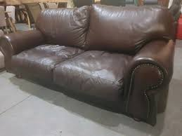 Living Room Brown Couch Cool Full Leather Studded Wetherlys Couch R 48 Centurion Gumtree