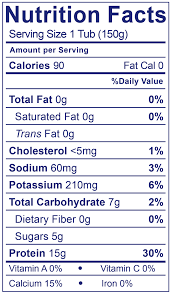 0 fat greek plain nutrition facts