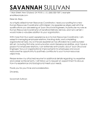 Operations Coordinator Cover Letter Best Hr Coordinator Cover Letter Examples Livecareer