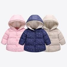 details about au children outerwear winter hooded winter jacket fashion kids star print coat