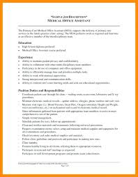 Medical Assistant Duties For Resume Chronological Medical Assistant ...