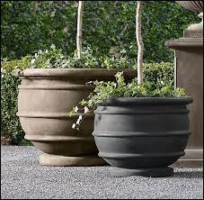 outdoor planters restoration hardware