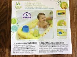 disney baby inflatable safety bathtub winnie the pooh home travel 30x20 new