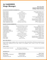 7 Tech Theatre Resume Letter Setup