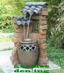 garden water fountains backyard water