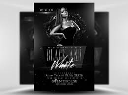 Black And White Flyer Template Flyerheroes Black And White Flyer