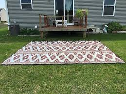 clearance outdoor patio rug 9 x 12 rv camping picnic mat 300 2