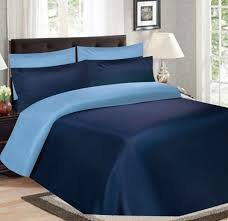 image of navy blue duvet cover style