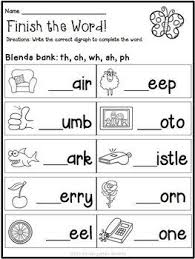 Free esl phonics worksheets (beginner to advanced) Spring Math And Literacy Worksheets Free Phonics Worksheets Grade 1 Kindergarten Reading Phonics