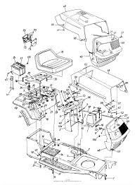 Mtd 136h450f131 44 9607 5 1996 parts diagram for hood
