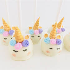 Unicorn Cakepops Food Drinks Baked Goods On Carousell