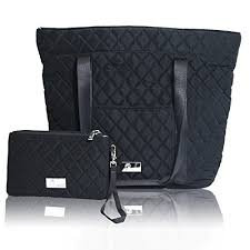 Quilted Laptop Bag: Amazon.com & Pursetti Black Quilted Tote Bag for Women w/ Bonus Wristlet - Perfect Work,  School, Nursing or Gym Tote for Business Women, Nurses, Teachers or Students Adamdwight.com